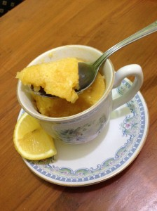 Lemon Mug Cake with Lemon Glaze